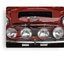 Classic Mini Cooper Spotlights Canvas Print