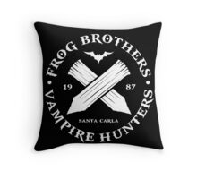 The Lost Boys - Frog Brothers Bros Vampire Hunters Throw Pillow