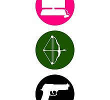 Team Arrow - Colorful Symbols - Weapons by FangirlFuel