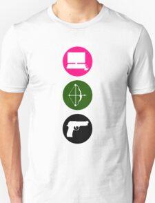 Team Arrow - Colorful Symbols - Weapons Unisex T-Shirt