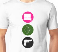 Team Arrow - Colorful Symbols - Weapons Unisex T-Shirt