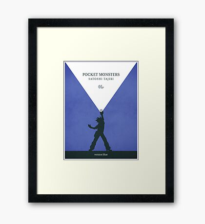 Pocket Monsters - Version Blue Framed Print
