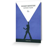 Pocket Monsters - Version Blue Greeting Card