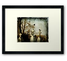 Crows and Crosses Framed Print