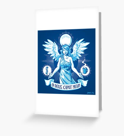 The Angel of Hangovers Greeting Card