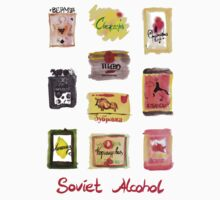 Soviet Alcohol Labels by teaandink