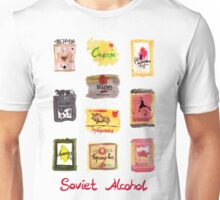 Soviet Alcohol Labels Unisex T-Shirt