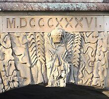 Convict Carvings on the Ross Bridge Tasmania by Wendy Dyer