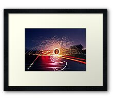 Neon Road Framed Print