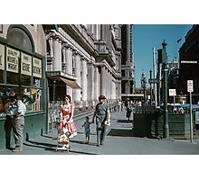 Pedestrians at end of Post Office next to Tin Shed Elizabeth street 19610200 0010 Photographic Print