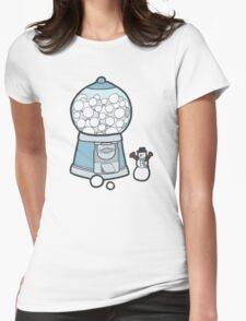 Snow Ball Gum Ball Womens Fitted T-Shirt