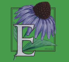 E is for Echinacea Baby Tee