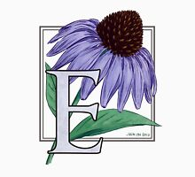 E is for Echinacea Womens Fitted T-Shirt