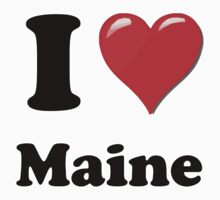 I Heart / Love Maine by HighDesign