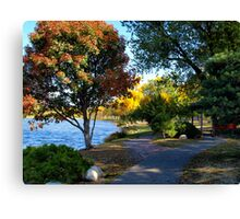 Autumn Colors in the Japanese Gardens Canvas Print