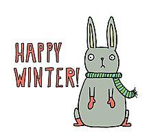Sad Snow Bunny Photographic Print