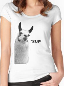 Cool Llama is Cool Women's Fitted Scoop T-Shirt