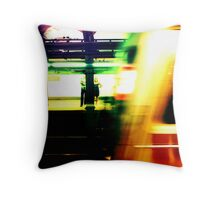Waiting for the Train, I am waiting for you. Throw Pillow