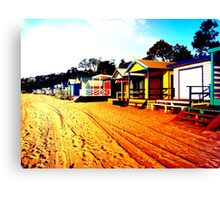 Mornington Beach Boxes Canvas Print
