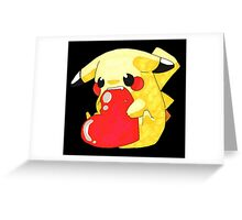 Pikachu Hearth Greeting Card