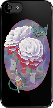 Painted Roses For Wonderland's Heartless Queen Case by Audra Lemke