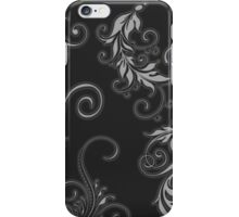 Black Leafiness 1 iPhone Case/Skin