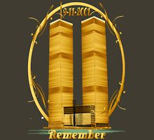 Gold Twin Towers lettered  Unisex T-Shirt