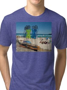 Naked Ladies, Sculptures By The Sea Exhibition 2006 Tri-blend T-Shirt
