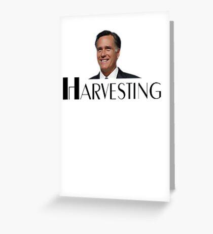 Harvesting Mitt Romney 2012 Greeting Card
