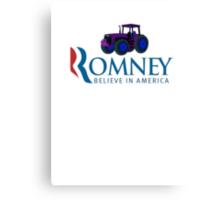 Harvesting Mitt Romney 2012 Canvas Print