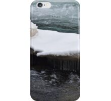 Snow shelf and icicles iPhone Case/Skin