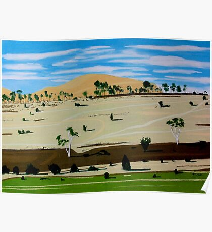 Landscape North of Oatlands Poster