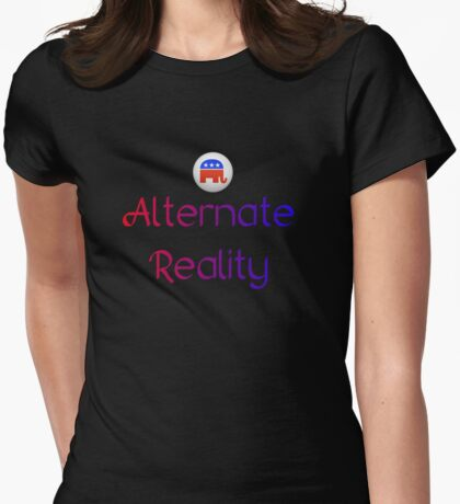 Alternate Reality Mitt Romney 2012 Womens Fitted T-Shirt