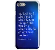 John 1:1 iPhone Case/Skin