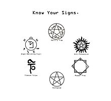 Know Your Signs Photographic Print