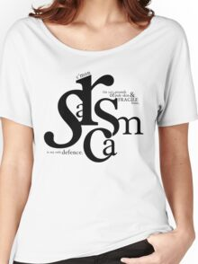 """Sarcasm is my only defense"" - Stiles Stilinski Women's Relaxed Fit T-Shirt"