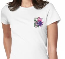 F is for Fuchsia - patch Womens Fitted T-Shirt