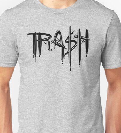 Trash Black Font Unisex T-Shirt
