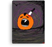 """ psychotic break Pumpkin Carving""  Halloween Tia Knight Canvas Print"
