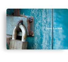 Love Locked Canvas Print
