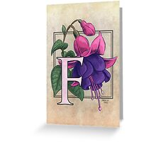 F is for Fuchsia card Greeting Card