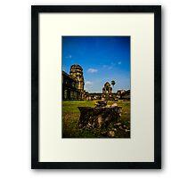 The stones of Siem Reap Framed Print
