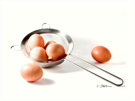 Eggs in one basket...!!! by Stephen Knowles
