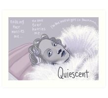 Quiescent - Marlene Dietrich Art Print