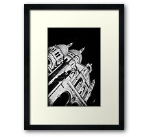 Travel BW - Paris Sacre Coeur Cathedral Framed Print