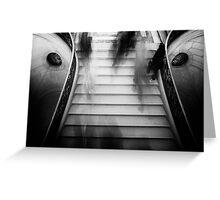 Travel BW - Paris Louvre Stairs Greeting Card