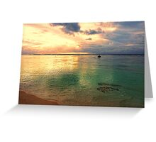 Golden lagoon Greeting Card