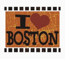 I love Boston - Vintage Boston Kids Tee