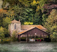 Boat House in the Lake District by Irene  Burdell