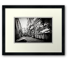 Graph Lane Framed Print